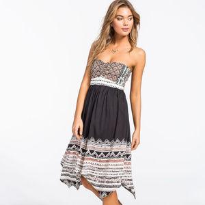 Volcom Spinternship Mixed Print strapess Dress